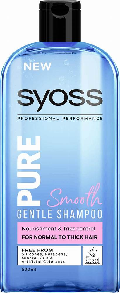 Shampoo Syoss Pure Smooth Volume Shampoos 500ml