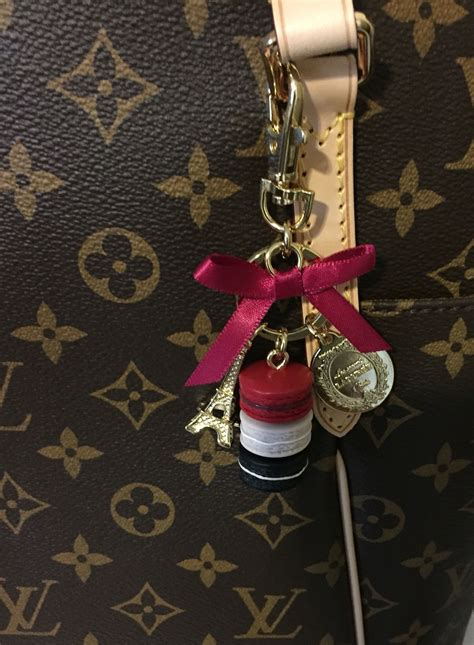 laduree bag charm  louis vuitton totally mm girly jewelry louis vuitton totally mm louise