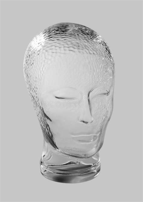Glass head profile stock image. Image of emotionless