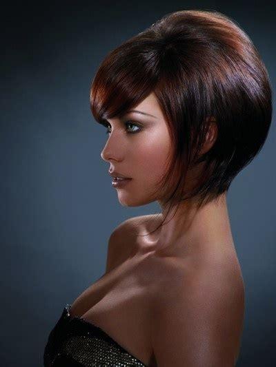 voluminous bob hairstyle with beautiful fringe medium