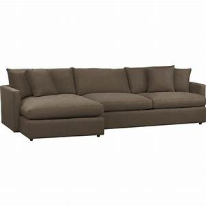 Sectional sofas leather and fabric crate and barrel for Crate and barrel lounge 2 piece sectional sofa