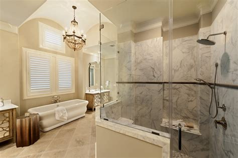 His And Shower by Houston Shower Bench Seat Ideas Bathroom Traditional With