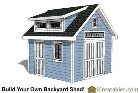 Free Shed Blueprints 12x12 by 12x12 Shed Plans Build Your Own Storage Lean To Or