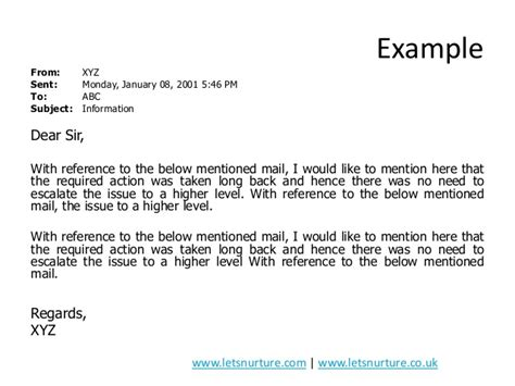How To Mention Reference In Application Email by Presentation On Email Etiquettes