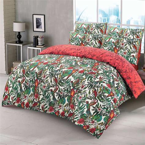 3pc Amazon Jungle Wild Birds Quilt Duvet Cover Pillowcase