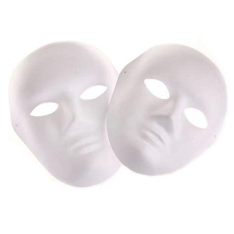 women men unpainted blank mask diy white mask adults