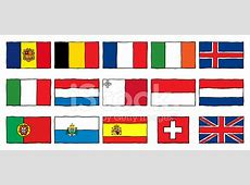 Hand Drawn Flags Western Europe Stock Vector FreeImagescom
