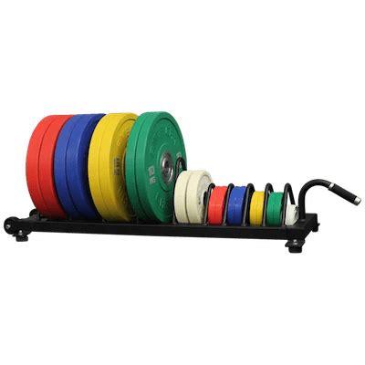 american barbell horizontal rolling bumper plate storage rack kodiak sports llc
