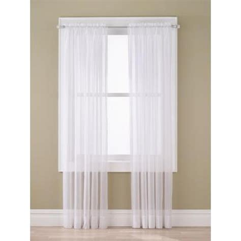 Kmart White Sheer Curtains by Essential Home Sheer Voile Window Panel
