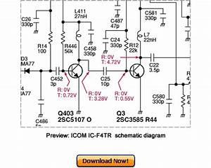 Icom Ic-f4tr Service Repair Manual Download