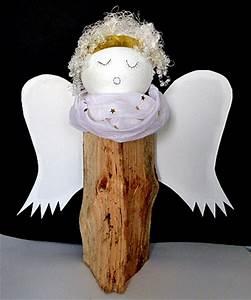 Engel Aus Holz Selber Machen : engel aus holzscheit und styroporkugel weihnachten ~ Lizthompson.info Haus und Dekorationen