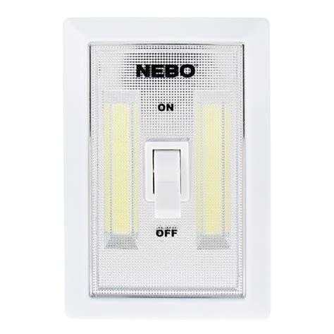 led light switch nebo flipit led light switch 2 pack 215 lumens