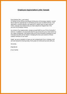 Employee appreciation letter sample the letter sample for Employee recognition letter format