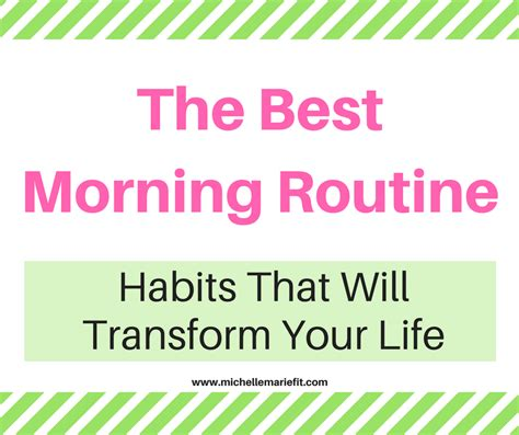The Best Morning Routine  Michelle Marie Fit