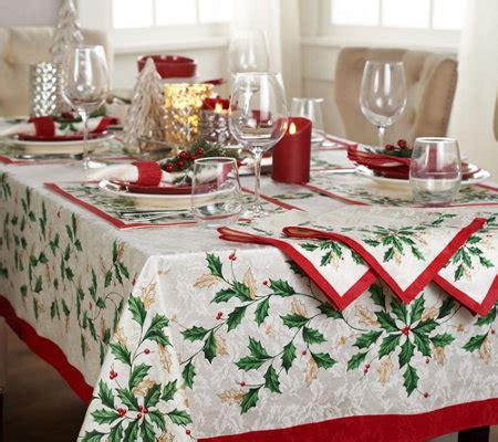 Lenox Holiday Tablecloth And Napkin Set — Qvccom