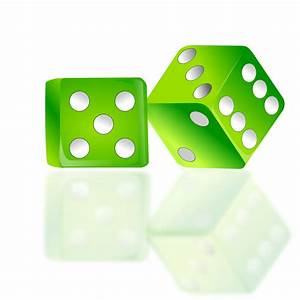 Dice | Free Stock Photo | Illustration of a pair of green ...