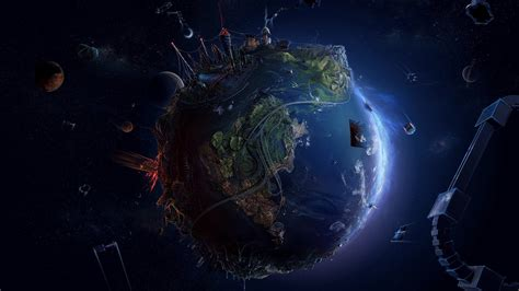 Space Anime Wallpaper - anime planet abstract earth space david fuhrer