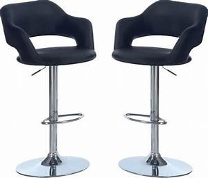 Hydraulic Bar Stool Package – Black The Brick