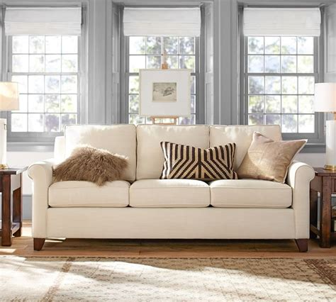 pottery barn grand sofa size ours vs theirs what goes into our quality cameron