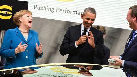 ticker obama in hannover obama us präsident auf rundgang obama scherzt am harting stand