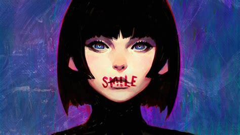 Short Hair Blue Eyes Ilya Kuvshinov Anime Girls Black