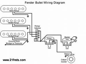 Fender Bullet Guitar Wiring Diagram