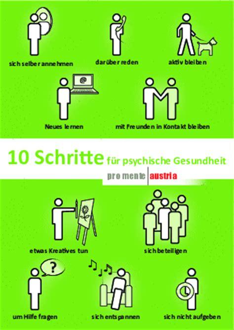 10 Schritte Für Psychische Gesundheit Pro Mente Austria