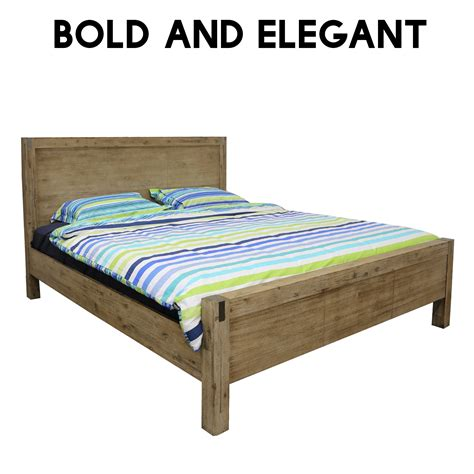 Bed Frames Portland by New Luxury Solid Acacia Timber Portland Espresso Bed