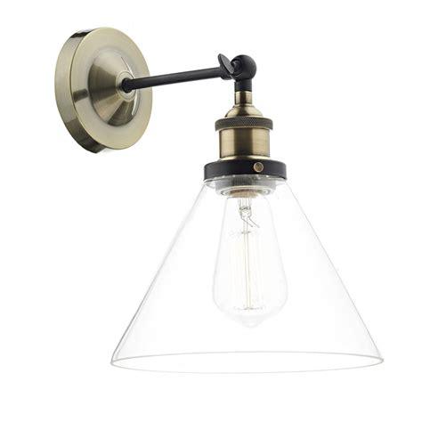 dar lighting wall light in antique brass fitting style from dusk lighting uk