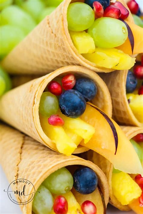 cornucopia centerpiece fruit  sugar cones