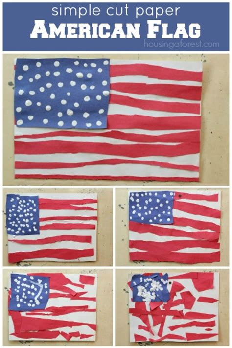 simple american flag craft for housing a forest 681 | Patriotic crafts for kids a