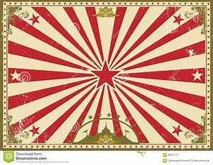 Circus Vintage Horizontal Background Stock Image - Image ...