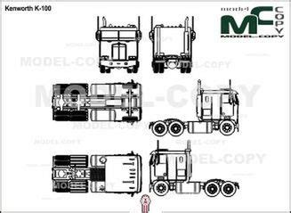 This file can be used for making models in 3d modeling programs. Kenworth K-100 - drawing - 21620 - Model COPY