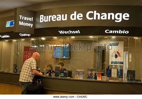 bureau de change at gatwick airport travel stock photos travel stock images alamy