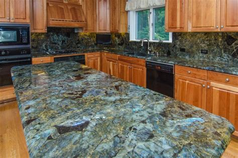 lemurian blue labradorite kitchen with backsplash