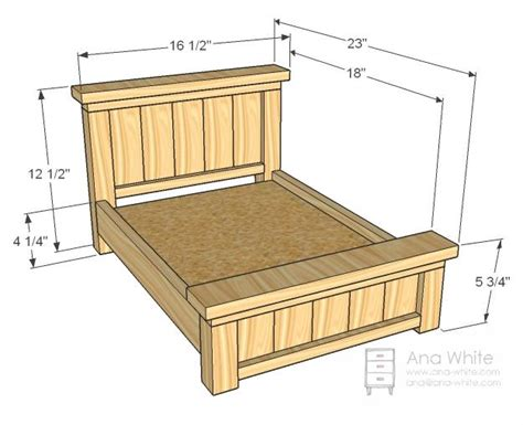 bed frame plans na rybyinfo