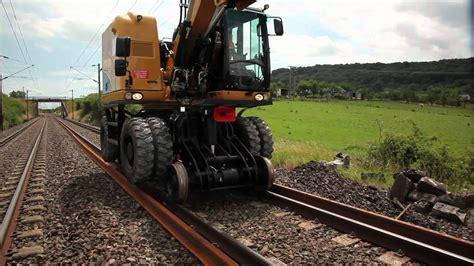 unac trr high capacity road rail excavator youtube