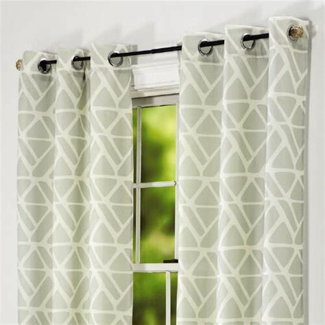 Geometric Pattern Grommet Curtains by Geometric Grommet Window Panel Tree Shops Andthat