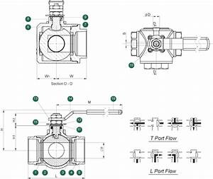 503s  Multi-port 3-way Ball Valve  1  2 U0026quot