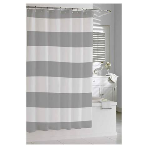 Shower Curtain Gray by Stripe Shower Curtain Gray Cassadecor Target