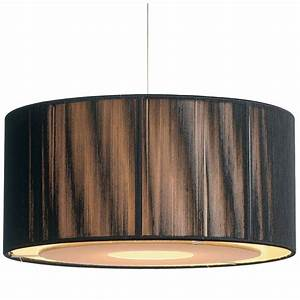 Easy fit black gold ceiling light shade drum shaped