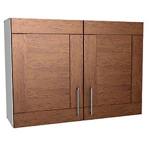 Wickes Bookcase by Wickes Rockford Wall Unit Walnut 1000mm Deal At Wickes