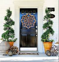 front door decorating ideas Trash to Treasure: Almost Spring Door Decorating - Thistlewood Farm