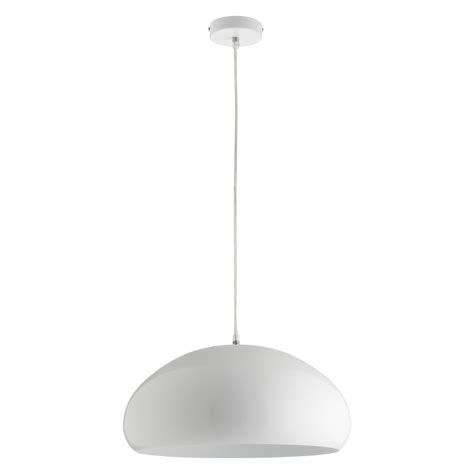 rock white metal ceiling light buy now at habitat uk