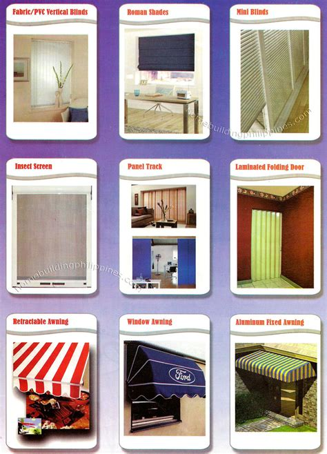 fabricpvc blinds roman shades insect screen panel track folding door retractable awning