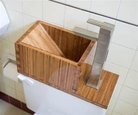 sink toilet tank build this water saving toilet tank sink
