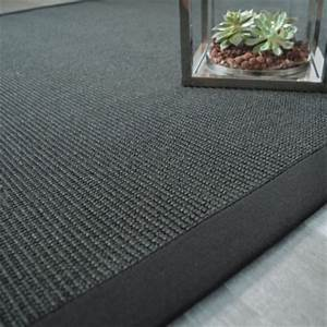 Tapis En Sisal : tapis sisal yucatan noir ganse noire 140 x 200 cm ~ Teatrodelosmanantiales.com Idées de Décoration
