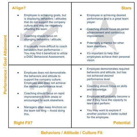 performance values matrix performance culture
