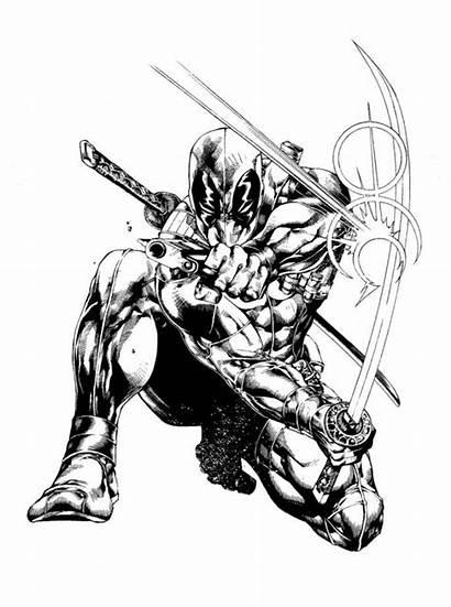 Deadpool Coloring Printable Chibi Avengers Spiderman