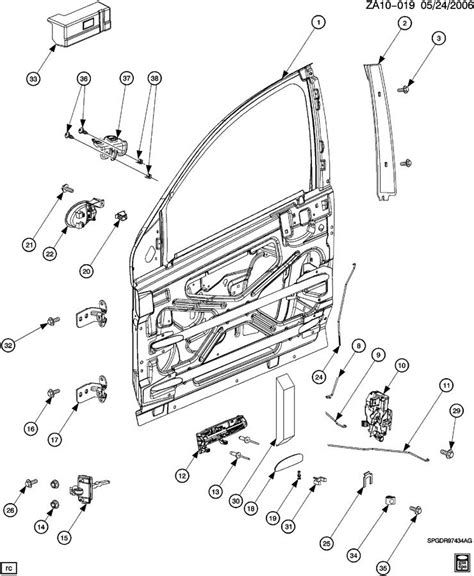 Saturn Door Diagram by Door Parts Diagram Chamberlain Garage Door Opener Manual